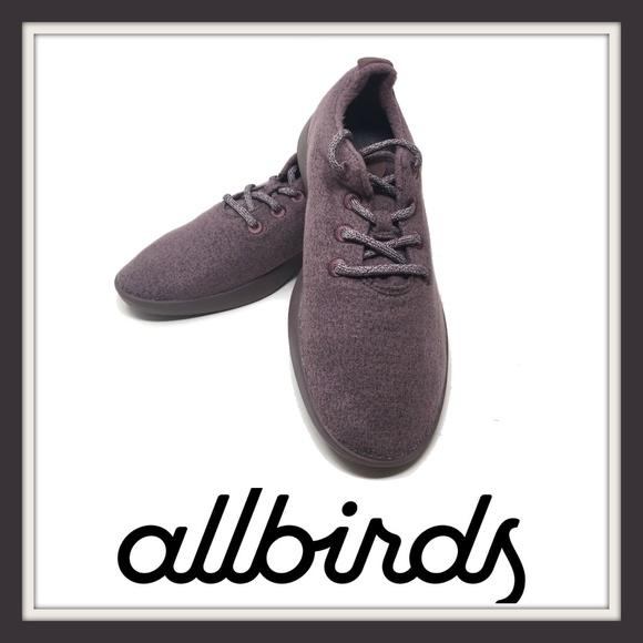 New Allbirds Womens Wool Runners Sz 6 Kotare Plum and  Plum Soles Purple Shoes